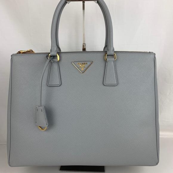 Prada Handbags - New Prada Italian Galleria Large Double Zip Tote